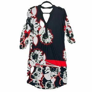 Joseph Ribkoff V neck Floral Shift Dress